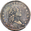 Early Half Dollars, 1795 50C 2 Leaves, Second S Over D, O-129, T-7, R.5, Fine 15 PCGS.CAC....