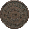 Civil War Merchants, (1861-65) A.W. Gale, Concord, NH, Fuld 120A-1a, R.4, MS61 BrownNGC. ...
