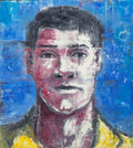 Fine Art - Painting, American:Contemporary   (1950 to present)  , Aaron Fink (American, b. 1955). Untitled (Portrait of aMan), 1985. Acrylic on canvas. 44-1/2 x 40 inches (113.0 x 1...