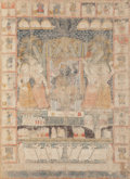 Fine Art - Painting, European:Antique  (Pre 1900), Indian School (20th Century). Pashad. Mixed media on canvas.68-1/2 x 59-1/2 inches (174.0 x 151.1 cm). ...