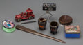 Decorative Arts, American, A Group of Eight Miscellaneous Desk Items, early to mid 20th century. ... (Total: 8 Items)