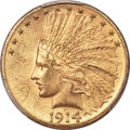 United States, United States: Republic gold 10 Dollars 1914-D MS63 PCGS,...