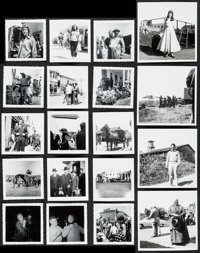 "East of Eden by Mrs. Ward Ries & Other Lot (1954). Behind the Scene Photos (29) (3.5"" X 3.5"", 5""..."