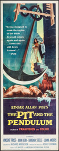"""Movie Posters:Horror, The Pit and the Pendulum (American International, 1961). Insert(14"""" X 36""""). Horror.. ..."""