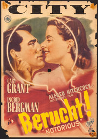 "Notorious (RKO, 1947). Dutch Poster (21.25"" X 30.5""). Hitchcock"