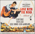 "Movie Posters:Academy Award Winners, Gone with the Wind (MGM, R-1961). Six Sheet (78"" X 79.5""). AcademyAward Winners.. ..."