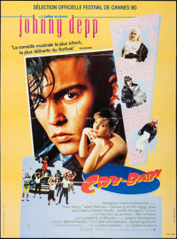 "Cry-Baby & Other Lot (Universal, 1990). French Grandes (2) (45.5"" X 61.5"" & 47"" X 63""). Come..."
