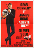 "Movie Posters:James Bond, You Only Live Twice (United Artists, R-1970s). Italian 4 - Fogli(54.75"" X 77.75""). James Bond.. ..."