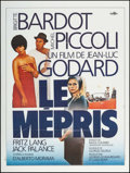 "Movie Posters:Foreign, Le Mepris (Forum, R-1970s). French Grande (47.25"" X 63""). Foreign.. ..."