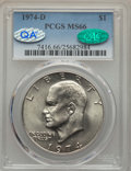Eisenhower Dollars, 1974-D $1 MS66 PCGS. CAC. PCGS Population (483/17). NGC Census: (606/8). Mintage: 45,517,000. Numismedia Wsl. Price for pro...