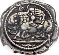 Ancients:Greek, Ancients: MACEDON. Acanthus. Ca. 525-470 BC. AR tetradrachm (30mm, 16.75 gm)....