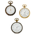 Timepieces:Pocket (post 1900), Elgin, Illinois & Swiss Pocket Watches. ... (Total: 3 Items)