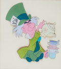 Animation Art:Production Cel, Alice In Wonderland The Mad Hatter Production Cel (WaltDisney, 1951)....