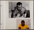 Boxing Collectibles:Autographs, Jack Sharkey and Floyd Patterson Signed Photographs (2)....