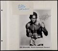 Boxing Collectibles:Autographs, Jackie Fields and Ike Williams Signed Photographs, Etc. Lot of 3....