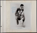Basketball Collectibles:Photos, Cousy, Bradley and Frazier Signed Photographs (3)....