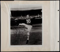 Football Collectibles:Photos, Hein, Strong and Hirsch Signed Photographs (3)....
