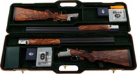 Cased Pair of Italian Famars Abbiatico & Salvinelli Consecutive Numbered Excalibur Over and Under Shotguns