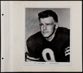 Football Collectibles:Photos, Sam Huff and Bill Wade Signed Photographs (2)....