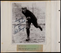 Football Collectibles:Photos, Red Grange and Frank Gifford Signed Photographs (2)....