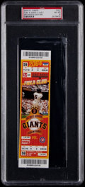 Baseball Collectibles:Tickets, 2004 Greg Maddux 300th Win Full Ticket, PSA NM-MT 8....