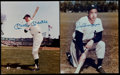 Baseball Collectibles:Photos, Joe DiMaggio and Mickey Mantle Signed Photographs (2)....