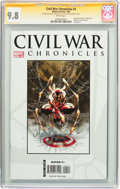 Modern Age (1980-Present):Superhero, Civil War Chronicles #4 Signature Series (Marvel, 2008) CGC NM/MT9.8 White pages....