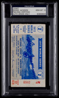 Baseball Collectibles:Tickets, Reggie Jackson Signed 1972 Game 2 World Series Ticket Stub, PSA/DNAGem Mint 10....