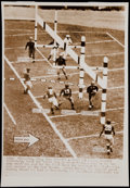 Football Collectibles:Photos, 1939 NFL Championship Game Original Press Photograph - Packers Victory Over Giants....