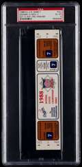 Baseball Collectibles:Tickets, 1988 Los Angeles Dodgers Vs. Mets NLCS Game 7 Full Ticket, PSAEX-MT 6....