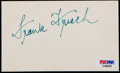 Baseball Collectibles:Others, Frank Frisch Signed Index Card....