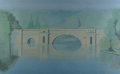 Fine Art - Painting, American:Contemporary   (1950 to present)  , Lowell Nesbitt (American, 1933-1993). Chateau Bridge, 1982.Oil on canvas. 96 x 60 inches (243.8 x 152.4 cm). Signed, da...