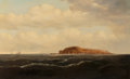Fine Art - Painting, American:Antique  (Pre 1900), Attributed to Charles Gulager (American, 1826-1899). FortSumpter, North Carolina. Oil on canvas. 39-1/2 x 60 inches(10...