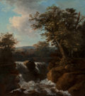 Fine Art - Painting, European:Antique  (Pre 1900), Continental School (19th Century). Cascading Falls. Oil oncanvas. 33-1/2 x 29 inches (85.1 x 73.7 cm). ...