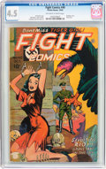 Golden Age (1938-1955):War, Fight Comics #40 (Fiction House, 1945) CGC VG+ 4.5 Off-white to white pages....