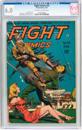 Golden Age (1938-1955):War, Fight Comics #42 (Fiction House, 1946) CGC FN 6.0 Off-white towhite pages....
