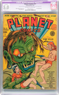 Golden Age (1938-1955):Science Fiction, Planet Comics #11 (Fiction House, 1941) CGC Apparent VG/FN 5.0Slight (C-1) Off-white to white pages....