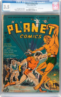 Golden Age (1938-1955):Science Fiction, Planet Comics #12 (Fiction House, 1941) CGC VG- 3.5 Cream tooff-white pages....