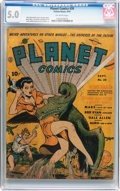 Golden Age (1938-1955):Science Fiction, Planet Comics #20 (Fiction House, 1942) CGC VG/FN 5.0 Off-whitepages....