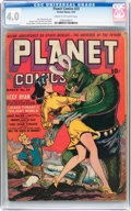 Golden Age (1938-1955):Science Fiction, Planet Comics #23 (Fiction House, 1943) CGC VG 4.0 Cream tooff-white pages....