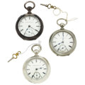 Timepieces:Pocket (pre 1900) , Three Key Wind Watches. ... (Total: 3 Items)