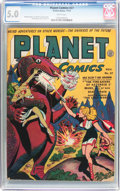 Golden Age (1938-1955):Science Fiction, Planet Comics #27 (Fiction House, 1943) CGC VG/FN 5.0 Whitepages....