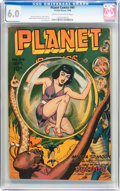 Golden Age (1938-1955):Science Fiction, Planet Comics #44 (Fiction House, 1946) CGC FN 6.0 Cream tooff-white pages....