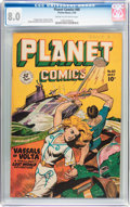 Golden Age (1938-1955):Science Fiction, Planet Comics #60 (Fiction House, 1949) CGC VF 8.0 Cream tooff-white pages....
