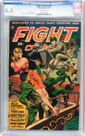 Golden Age (1938-1955):War, Fight Comics #33 (Fiction House, 1944) CGC FN+ 6.5 White pages....