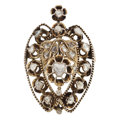 Estate Jewelry:Brooches - Pins, Diamond, Silver Vermeil Enhancer-Brooch. ...