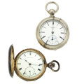 Timepieces:Pocket (pre 1900) , Rockford 4 Ounce Silver Key Wind, Waltham Model 57 Key Wind. ...(Total: 2 Items)