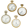 Timepieces:Pocket (post 1900), Four 16 Size Pocket Watches. ... (Total: 4 Items)