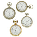 Timepieces:Pocket (post 1900), Four 18 Size Waltham Watches. ... (Total: 4 Items)