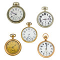 Timepieces:Pocket (post 1900), Five Pocket Watches. ... (Total: 5 Items)